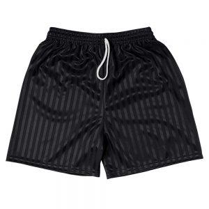 Shadow Stripe PE Shorts - Black