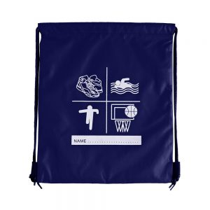 Zeco navy swimming PE Bag with drawstring