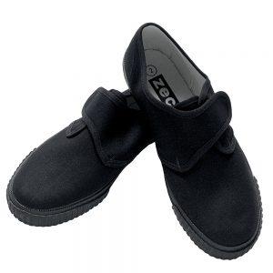 Velcro plimsolls black