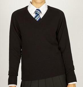 fitted black jumper
