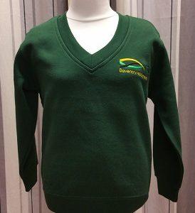 Daventry Hill Secondary School V Neck Badged Sweatshirt