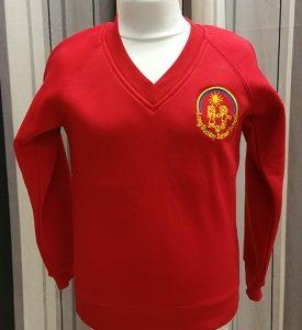 Long Buckby Infant School V Neck Sweatshirt
