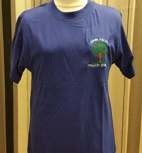 Ashby Fields Primary School Sapphire House PE T Shirt