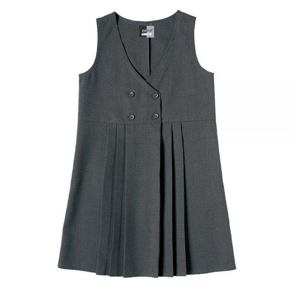 GP3028 grey Zeco pinafore dress
