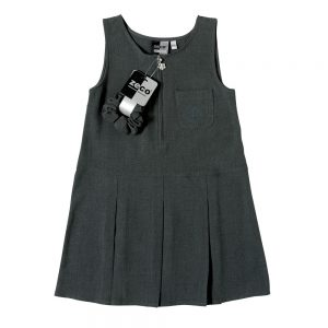 Girls Flower Embroidery School Pinafore by Zeco