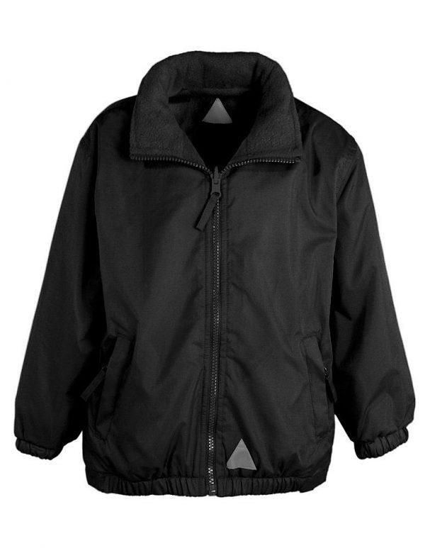black reversible showerproof jacket