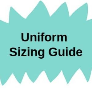 School uniform sizing guide