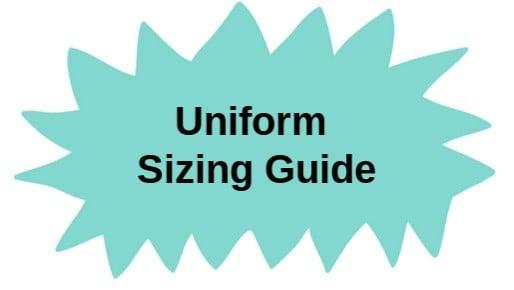 School uniform sizing guide